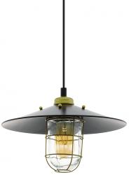 LAMPA WISZĄCA VINTAGE EGLO GLEASTON 49929 LOFT CZARNA INDUSTRIALNA