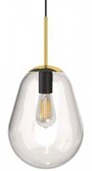 NOWODVORSKI PEAR S 8673 ZŁOTA SZKLANA LAMPA WISZĄCA KULA LOFT
