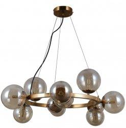 MOSIĘŻNA DESIGNERSKA LAMPA WISZĄCA KULE ITALUX MONTORA PND-30223-11A NOWOCZESNA LAMPA DO SALONU