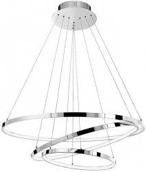 LAMPA WISZĄCA RING LED CHROMOWE OKRĘGI NOWOCZESNA LAMPA DO SALONU CHROM