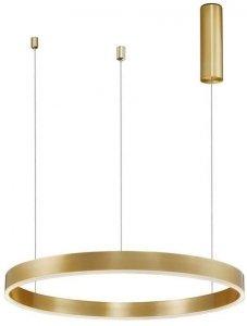 ZŁOTA LAMPA WISZĄCA RING LED NOWOCZESNA LAMPA DO SALONU ZŁOTE KOŁO