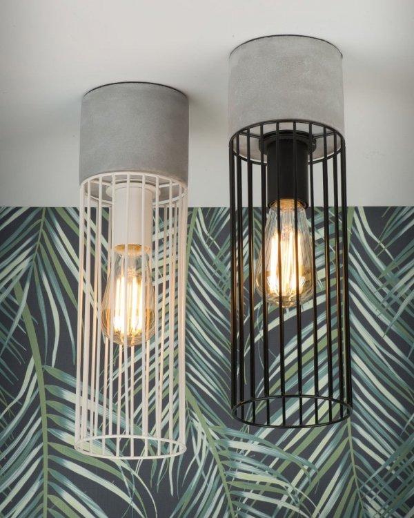 LAMPA SUFITOWA PLAFON MEMPHIS/C/B CZARNA