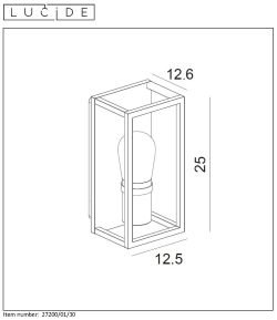 NOWOCZESNA LAMPA KINKIET ZEWNĘTRZNY LUCIDE CARYN 27200/01/30