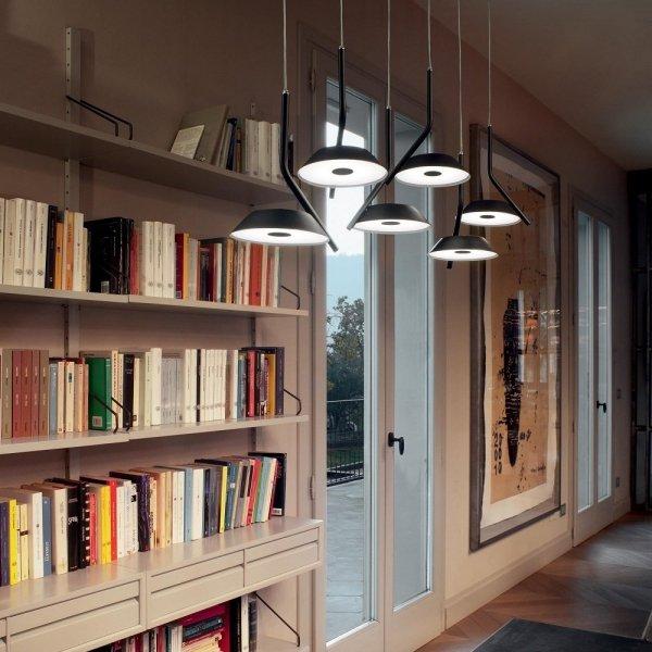 DESIGNERSKA LAMPA WISZĄCA BARBY IDEAL LUX 190778 LED 30W CZARNY MAT