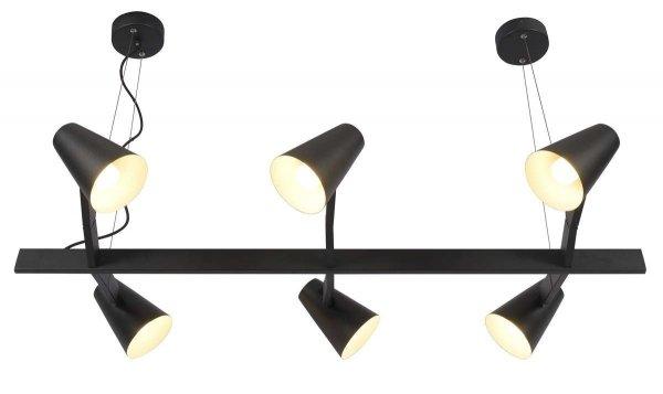 LAMPA WISZĄCA BIARRITZ/H6/B CZARNA