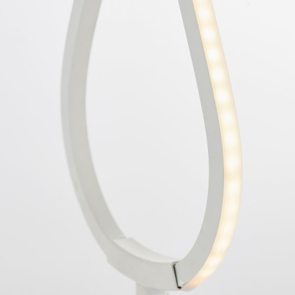 NOWOCZESNA BIAŁA LAMPKA STOŁOWA LED PARADOX ENDON
