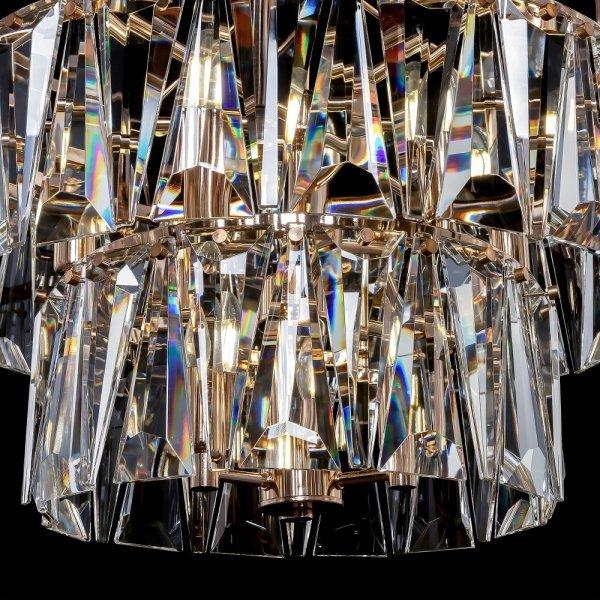 ZŁOTA KRYSZTAŁOWA LAMPA WISZĄCA MAYTONI PUNTES MOD043PL-18G ZŁOTY ŻYRANDOL KRYSZTAŁOW