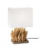 DREWNIANA RUSTYKALNA LAMPA STOŁOWA - NOCNA IDEAL LUX SNELL TL1 SMALL 201382