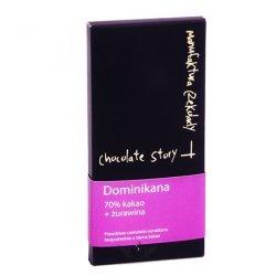 Czekolada 70% kakao z Dominikany - żurawina