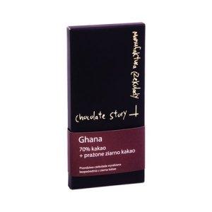 Manufaktura Czekolady - Czekolada 70% kakao z Ghany - prażone ziarno kakao