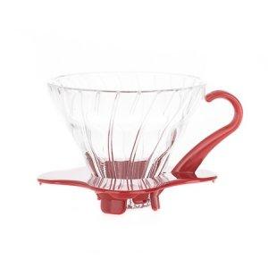 Hario szklany Drip V60-01 - Czerwony