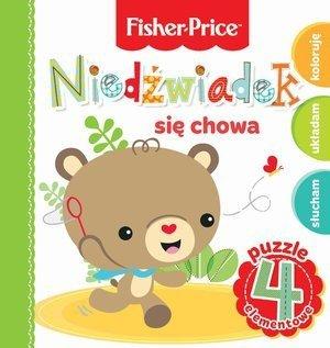 KS21 Fisher Price Puzzle Niedźwiadek się chowa