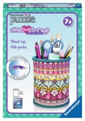 Ravensburger Puzzle 3D 54 el. - GIRLY GIRL Przybornik - Sweet Heart Storage