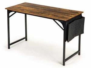 Biurko komputerowe duże szkolne stół LOFT + boczna torba na książki