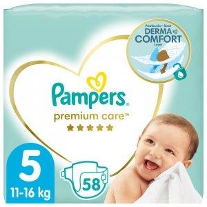 Pampers Zestaw pieluch Premium Care VP 5 (11-16kg); 88