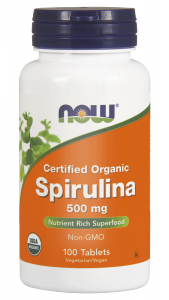 NOW SPIRULINA 500mg, 100 tabl.