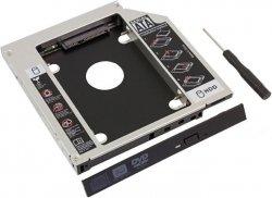 Kieszeń Ramka 5,25 SLIM-2,5 HDD SSD zamiast dvd w laptopie