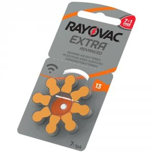 7+1 baterie do aparatów słuchowych Rayovac Extra Advanced 13 MF