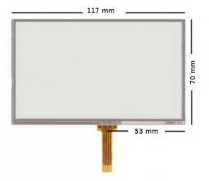 Ekran dotykowy 5 digitizer uniwersalny do GPS GOClever GARMIN MODECOM: MX 2, MX 2 HD LARK 50.3 LARK 50.4 LARK 50.6 HD MP4