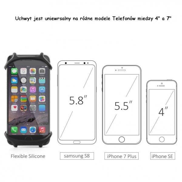Uchwyt rowerowy uniwersalny na smartphone 4'-7' cala Gdańsk