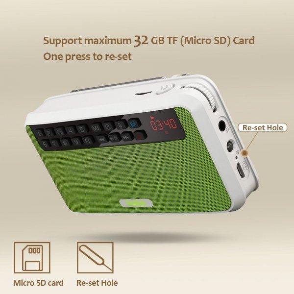Podręczne Radio rolton USB/TF/FM/MP3 BT3.0 zasilanie 18650