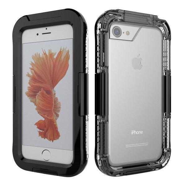 Obudowa czarny etui wodoodporna IP68 apple iPhone 7 PLUS