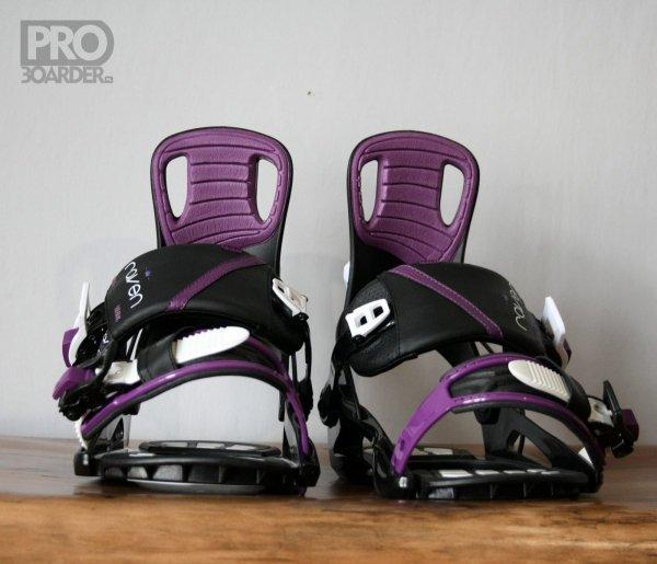 Wiązania snowboardowe Raven Starlet (black/violet) 2020