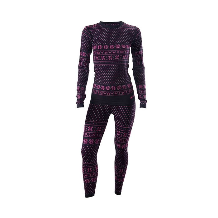 56719e71208f34 Damska bielizna termoaktywna Viking Brita Black/Pink