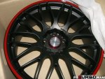 Lenso M-Spec Matt Black/Red 8,5x19 ET 37 72,6