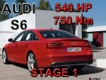 Audi S6 STAGE 1 - 540 HP / 750 Nm PAKIET MOCY