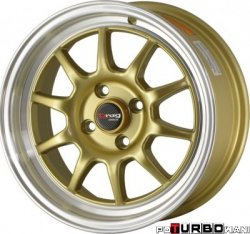 Drag Wheels DR16 Gold 16x7 4x100 ET40