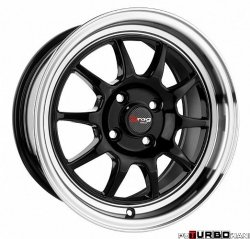 Drag Wheels DR16 Gloss Black 15x8,25 4x100 ET25
