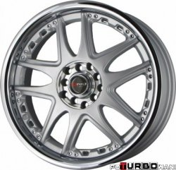 Drag Wheels DR14 Silver 17x7 5x100/114,3 ET40