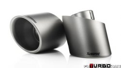 AKRAPOVIC Tail pipe set (Titanium, fits on stock exhaust)  Volkswagen Golf (VI) GTD 2009-2012