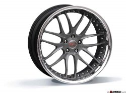 Breyton RACE GTR 9,0x21 5x120 Matt Gun Metal / Matt Black with stainless steel lip