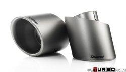 AKRAPOVIC Tail pipe set (Titanium) Fiat Abarth 500/595 2008-2014
