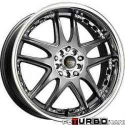 Drag Wheels DR14 Gun Metal 17x7 4x100/114,3 ET40