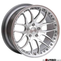Breyton RACE GTP 9,0x21 5x120 Hyper Silver with diamond polished lip