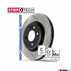 StopTech 126 Hi-Carbon Slotted tarcza hamulcowa BMW 126.34080SR