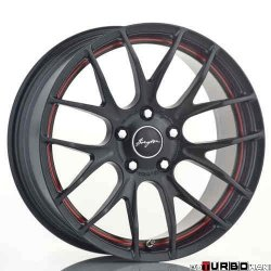 Breyton RACE GTS-R 8,5x18 5x120 Matt Gun Metal with red circle / Matt Black with red circle