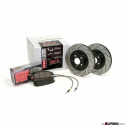 Stoptech Sport Brake Kits drilled sportowy zestaw hamulcowy 4 koła 2003-2005 VW GOLF GTI VEN 979.33031