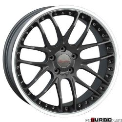 Breyton RACE GTP 8,5x20 5x120 Matt Gun Metal / Matt Black with diamond polished lip