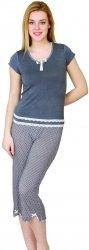 Piżama z wiskozy na 3/4 spodnie kropki R: