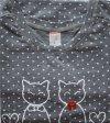 MuZZY Koszula 3/4 rękaw Dwa koty Popiel R: