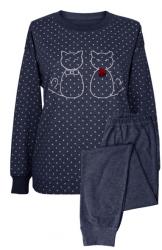 MuZZy Dwa koty Granat 100% bawełny