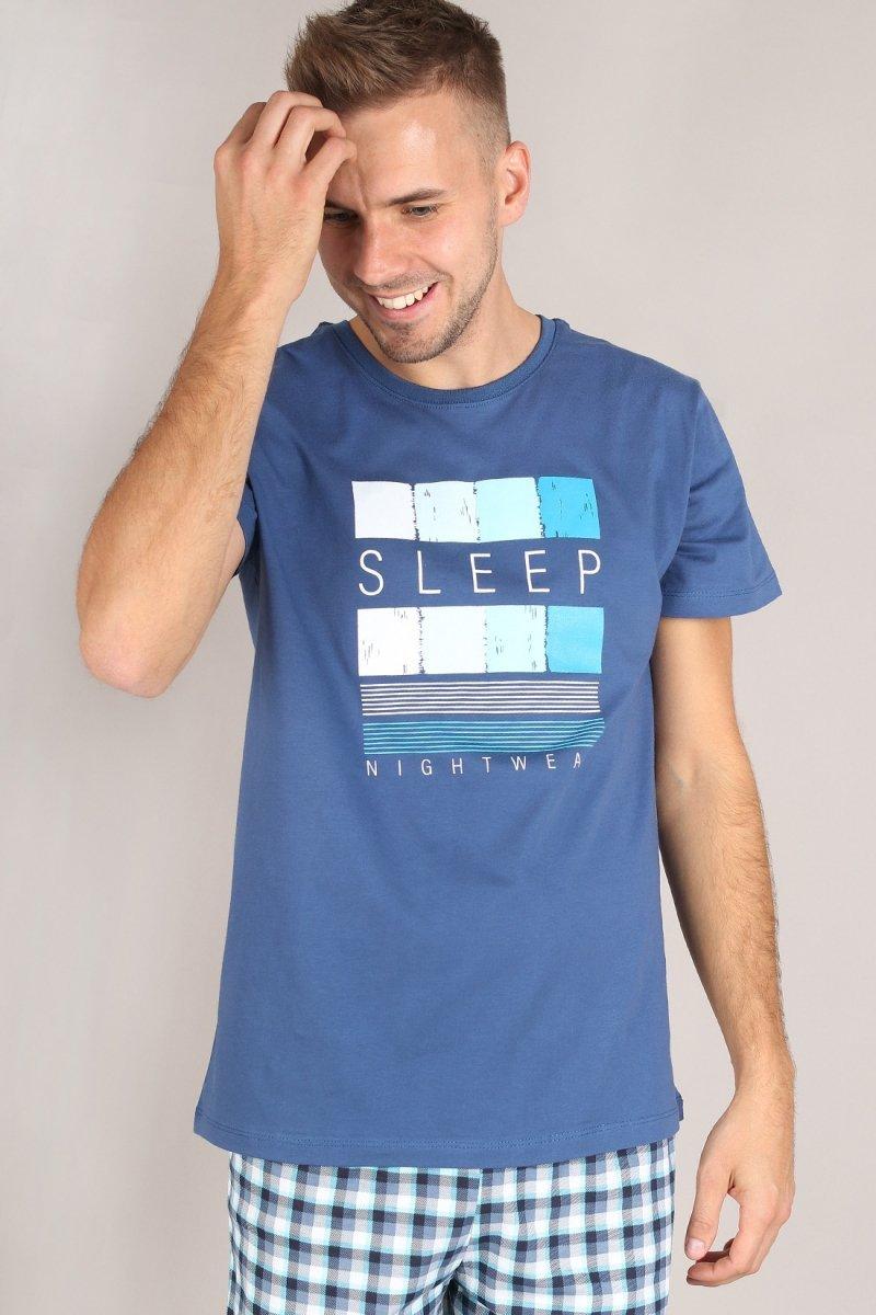MUZZY  Piżama MĘSKA Kr. i Dł. sp. SLEEP R: