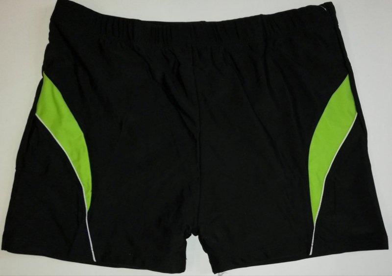Kąpielówki męskie czarne z zielenią R: