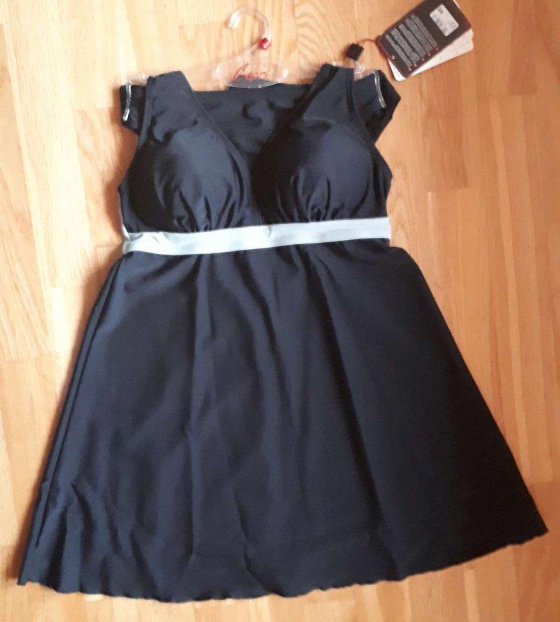 Tankini Capri czarny kostium dwuczęściowy