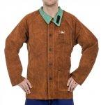 WELDAS-Lava Brown™ skórzana kurtka spawalnicza z dwoiny bydlęcej 44-7300 M