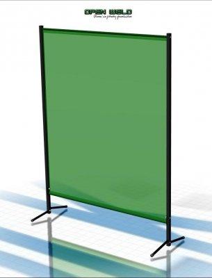 Parawan spawalniczy MINI 1450x1900 mm z kurtynami spawalniczymi foliowymi